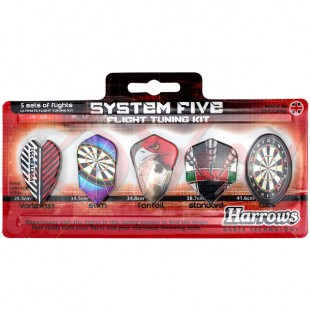 Harrows System Five 5-pack flights