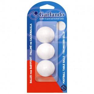 Voetballetjes Garlando Wit blister 3