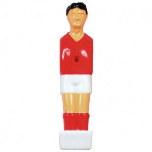 Voetbalpop rood-wit voor 13 mm stang