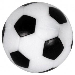 Voetbal met profiel zwart-wit 36 mm