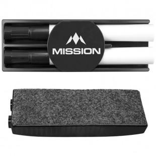 Mission Whiteboard wisser met 2 stiften