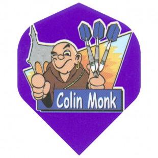 Colin Monk cartoon flight paars