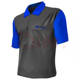 Target Coolplay 2 dart polo grijs met blauwe mouw