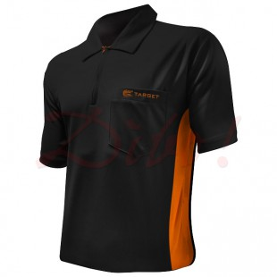 Target Coolplay Hybrid dart polo zwart met oranje streep