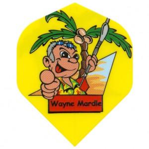 Wayne Mardle cartoon flight geel