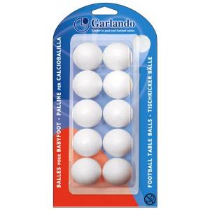 Voetballetjes Garlando Wit blister 10