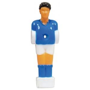 Voetbalpop blauw-wit voor 13 mm stang