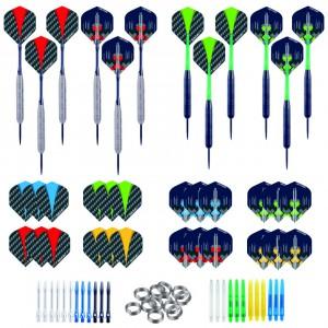 4 Sets Longfield darts steeltip Silver & Black 23 Gr
