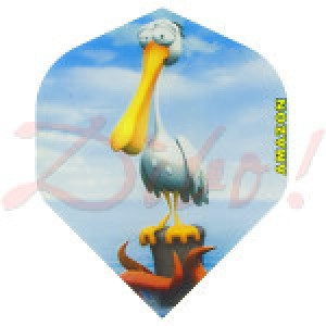 Amazon Cartoon Pelican flight