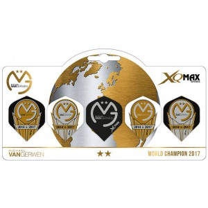 XQ Max van Gerwen World Champion 2017 5-pack flights