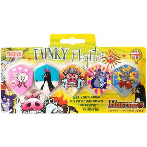 Harrows Funky Flights 5-pack flights