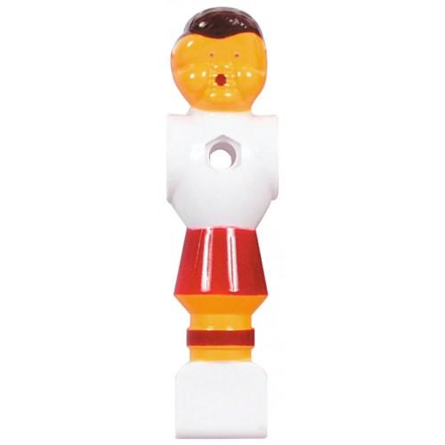 Voetbalpop rood-wit voor 16 mm stang