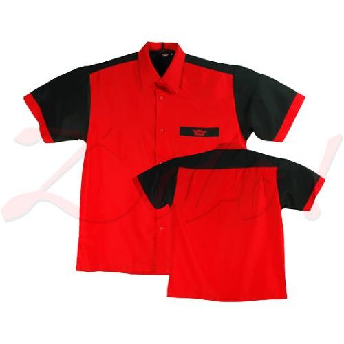 Bull's Dartshirt Rood-Zwart