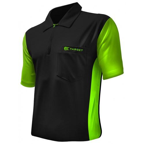 Target Coolplay Hybrid 3 dart polo shirt Zwart met Licht Groen