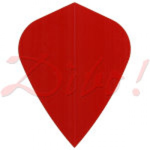 Poly Plain kite red flight