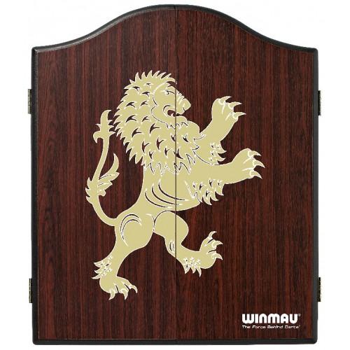 Winmau Rosewood Lion DeLuxe dartboard cabinet