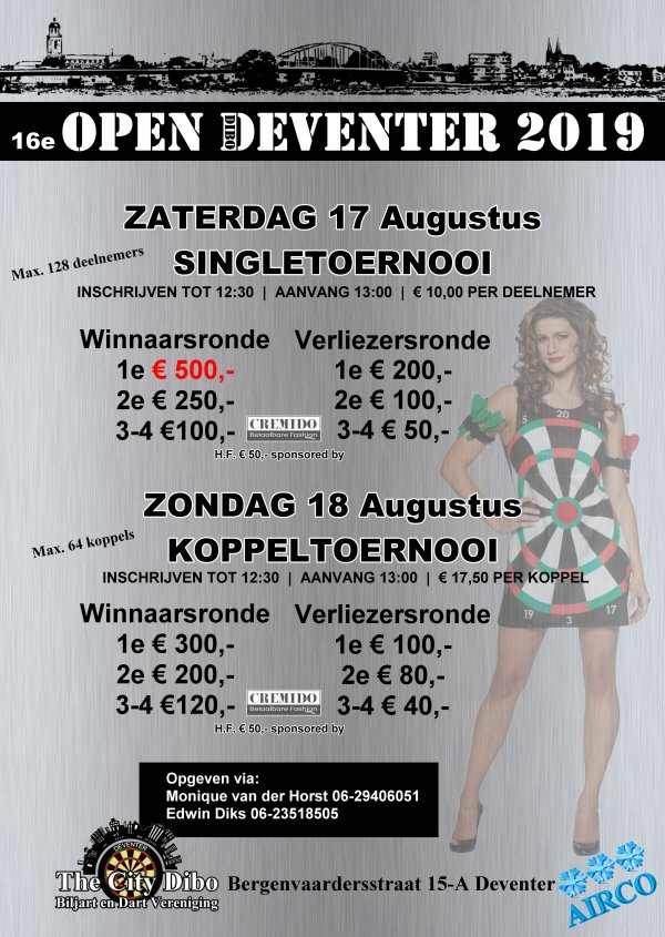 16e Open Deventer op 17 en 18 augustus 2019